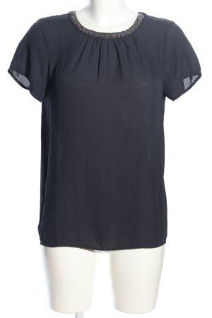 Only Kurzarm-Bluse schwarz Elegant