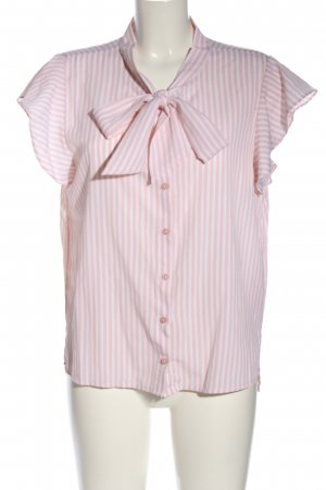 Only Kurzarm-Bluse weiß-pink Allover-Druck Casual-Look