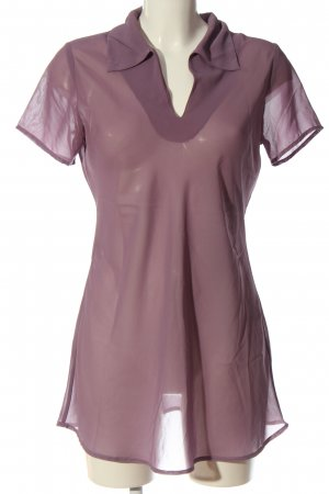 Only Kurzarm-Bluse lila Casual-Look