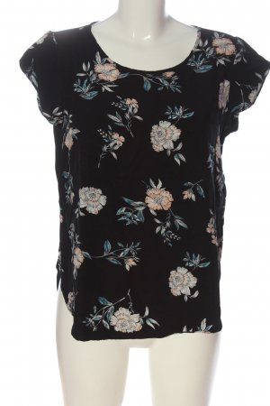 Only Kurzarm-Bluse Allover-Druck Casual-Look