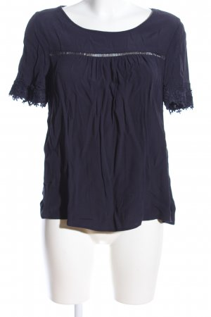 Only Kurzarm-Bluse blau Casual-Look
