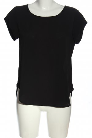 Only Kurzarm-Bluse schwarz Casual-Look
