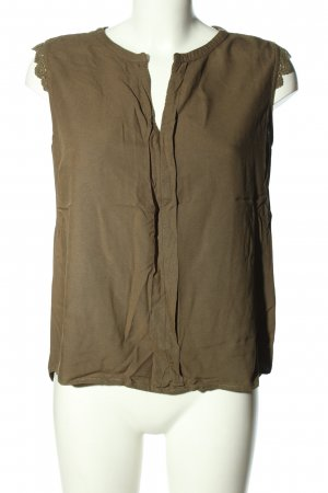 Only Kurzarm-Bluse braun Casual-Look
