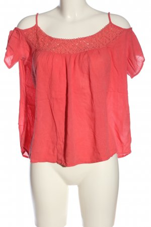 Only Kurzarm-Bluse rot Casual-Look