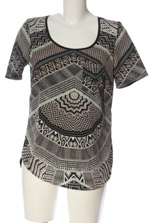 Only Kurzarm-Bluse abstraktes Muster Casual-Look
