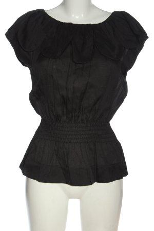 Only Blouse à manches courtes noir style décontracté