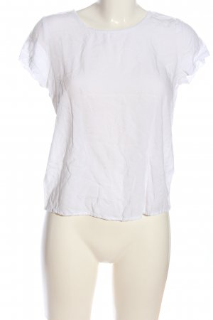 Only Kurzarm-Bluse weiß Casual-Look