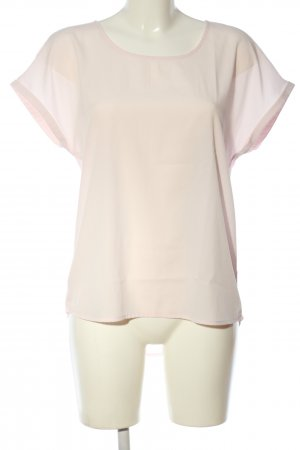 Only Kurzarm-Bluse pink Business-Look