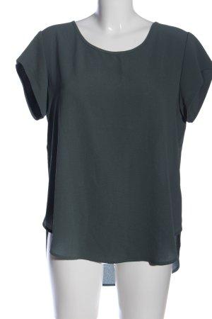 Only Kurzarm-Bluse grün Casual-Look