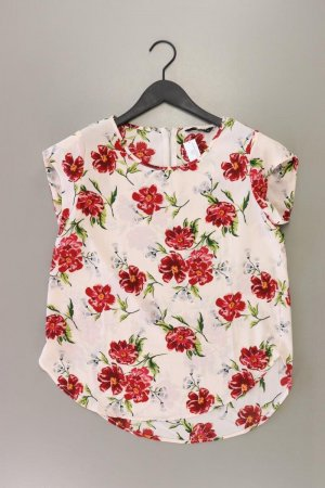 Only Kurzarmbluse Größe 36 mit Blumenmuster rosa aus Polyester