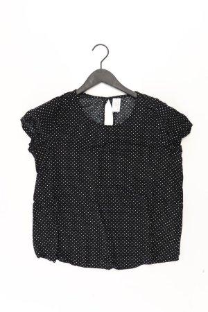 Only Kurzarmbluse Größe S gepunktet schwarz aus Polyester