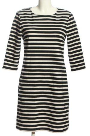 Only A-Linien Kleid schwarz-creme Streifenmuster Casual-Look