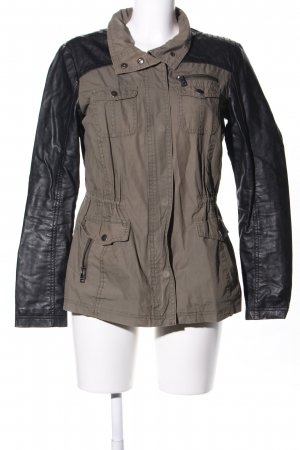 Only Kurzjacke braun-schwarz Casual-Look