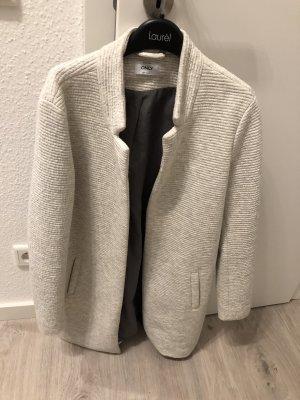 Only Cappotto corto grigio chiaro-bianco sporco
