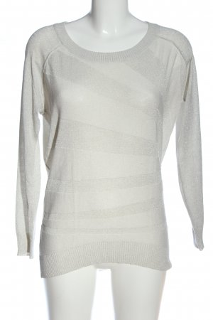 Only Langarm-Bluse weiß Streifenmuster Casual-Look