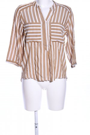 Only Langarm-Bluse weiß-braun Allover-Druck Casual-Look