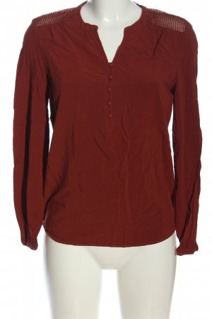 Only Langarm-Bluse rot Business-Look