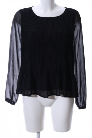 Only Langarm-Bluse schwarz Business-Look