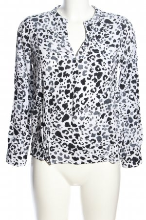 Only Langarm-Bluse abstraktes Muster Business-Look