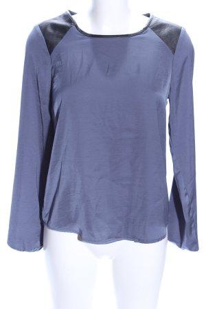 Only Langarm-Bluse blau-schwarz Casual-Look