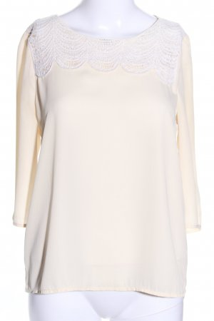 Only Langarm-Bluse wollweiß Business-Look