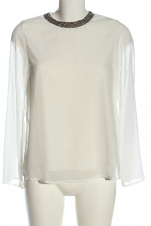 Only Langarm-Bluse weiß Casual-Look