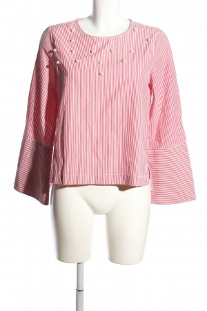 Only Langarm-Bluse pink-weiß Streifenmuster Casual-Look