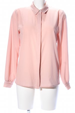 Only Langarm-Bluse pink Business-Look