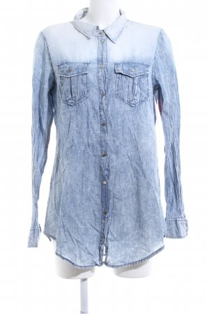 Only Langarm-Bluse blau-weiß Farbverlauf Casual-Look