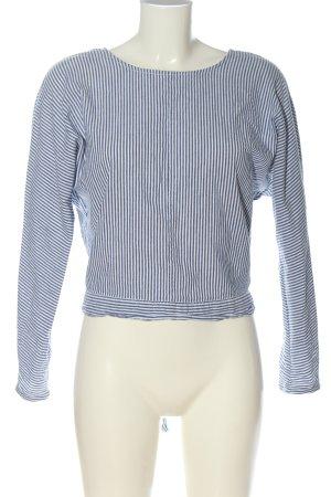 Only Langarm-Bluse blau-weiß Streifenmuster Casual-Look