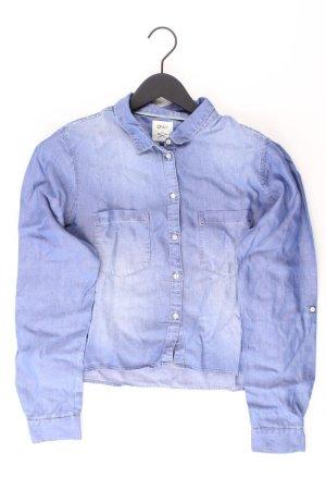 Only Langarmbluse Größe 40 blau aus Lyocell