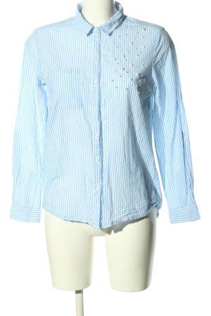 Only Langarmhemd blau Streifenmuster Business-Look