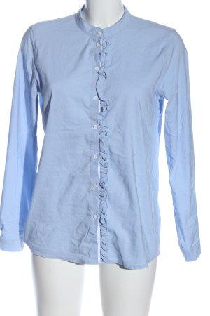 Only Langarmhemd blau Business-Look