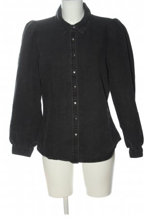 Only Langarmhemd schwarz Casual-Look