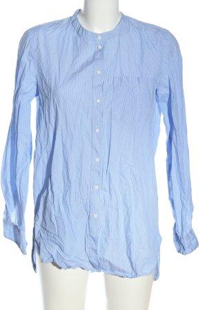 Only Langarmhemd blau-weiß Streifenmuster Casual-Look
