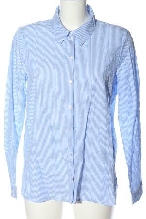Only Camicia a maniche lunghe blu-bianco stampa integrale stile professionale