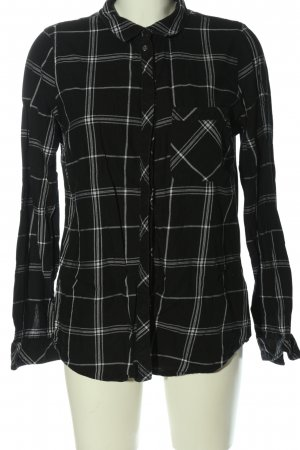 Only Langarmhemd schwarz Allover-Druck Casual-Look