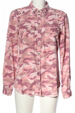 Only Langarmhemd Camouflagemuster Casual-Look