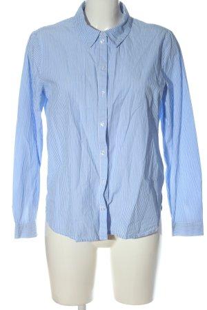 Only Langarmhemd blau-weiß Allover-Druck Business-Look