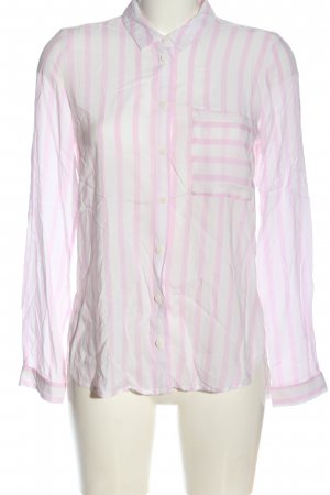 Only Langarmhemd weiß-pink Streifenmuster Business-Look