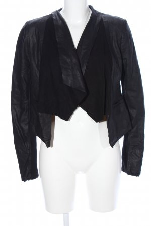 Only Blazer in pelle nero stile casual