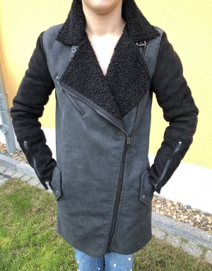 Only Leder-Winterjacke