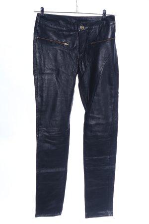 Only Leren broek zwart extravagante stijl