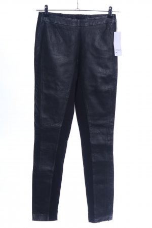 Only Pantalone in pelle blu stile casual