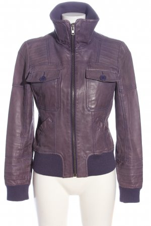 Only Lederjacke lila Casual-Look