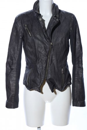 Only Lederjacke hellgrau Casual-Look