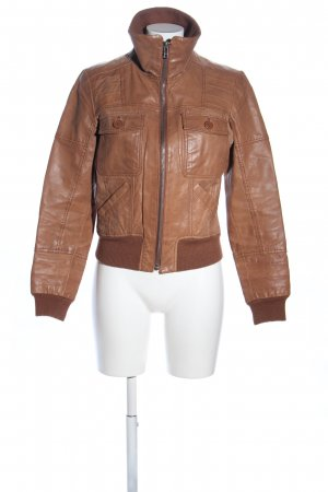 Only Lederjacke braun Casual-Look