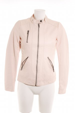 Only Lederjacke apricot Logo-Applikation aus Metall