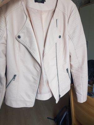 100 Giacca in pelle color oro rosa-rosa antico
