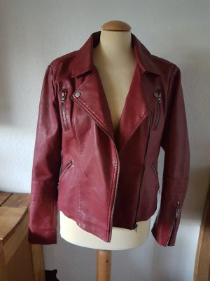 Only Faux Leather Jacket carmine